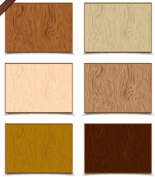 Vector Wood Texture Set - vector gratuit #340025