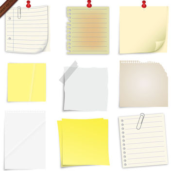 Post it Notes Collection - vector gratuit #340065