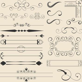 Calligraphic Vector - Free vector #340125