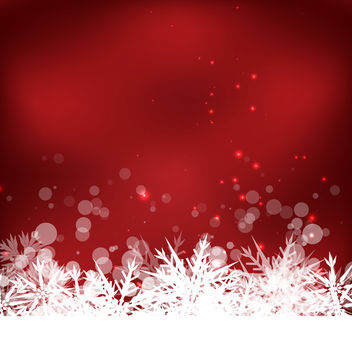 Red Snow Background - vector gratuit(e) #340415