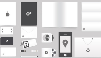 Corporate Identity Mockup - vector gratuit #340735