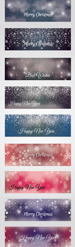 Christmas Banners - Kostenloses vector #340785