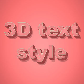 3D Text Style - Kostenloses vector #340835