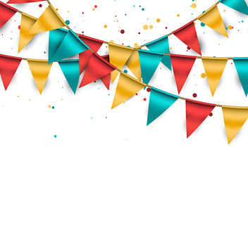 Bunting Background - vector #340855 gratis