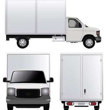 White Cargo Van - Free vector #340895
