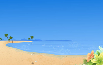 Summer Beach Wallpaper - Free vector #340965