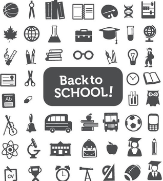Back to School Icons - Kostenloses vector #341175