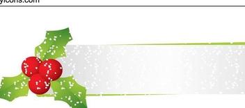 Glittery Mistletoe Christmas Header - Free vector #341255