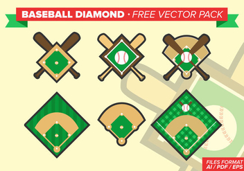 Baseball Diamond Free Vector Pack - Kostenloses vector #341595