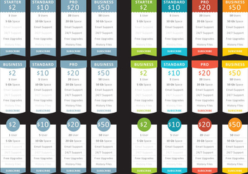 List Of Prices - vector #341605 gratis