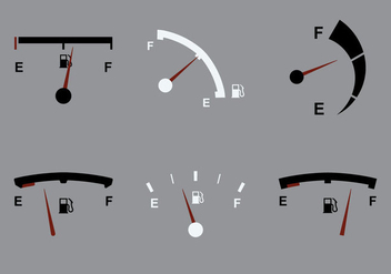 Free Fuel Gauge Vector Icon - Free vector #341635