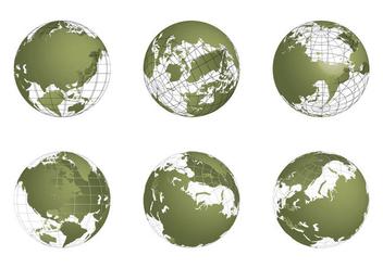 Free Globe Grid Vector set - Kostenloses vector #341665
