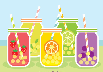 Bubble Fruit Tea - vector gratuit #341725