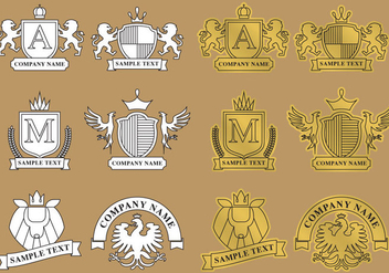 Modern Heraldic Logos - Kostenloses vector #341795