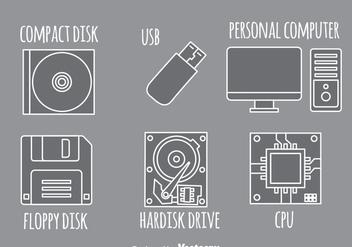 Computer Gray Icons - Kostenloses vector #341915