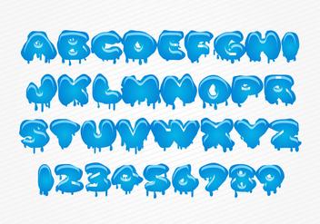 Free Vector Water Font - Kostenloses vector #342005