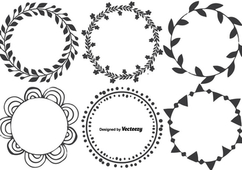 Cute Hand Drawn Frame Set - Free vector #342275