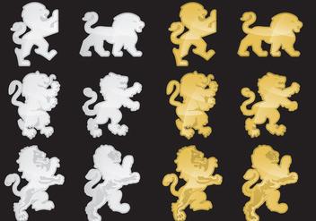 Heraldic Lions - Free vector #342345
