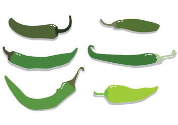 Green Hot Pepper Vector - vector gratuit(e) #342365