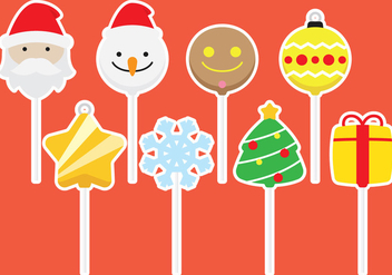 Chhristmas Cake Pops - Free vector #342385