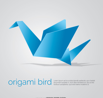 Origami bird - Free vector #342415