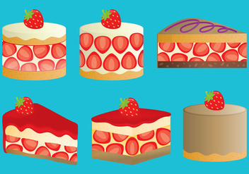 Strawberry Shortcakes - Free vector #342625
