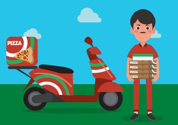 Vector Delivery Man - Kostenloses vector #342665