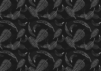 Banana leaf pattern vector - бесплатный vector #342675