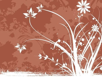 Swirling Floral Plant Grungy Background - vector #342825 gratis
