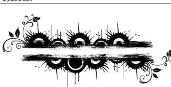 Grungy Circles Bar Banner - Free vector #342845