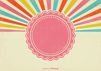 Colorful Retro Sunburst Background - vector gratuit(e) #343055