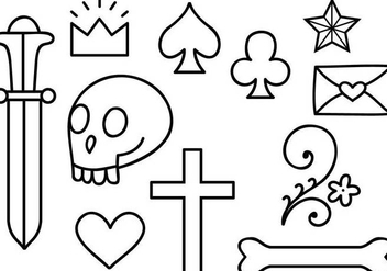 Free Old School Tattoo 2 Vectors - Free vector #343065