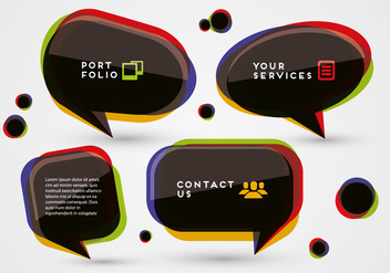 Free Colorful Speech Bubbles Vector - Free vector #343125