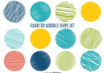 Assorted Scribble Shape Set - бесплатный vector #343135