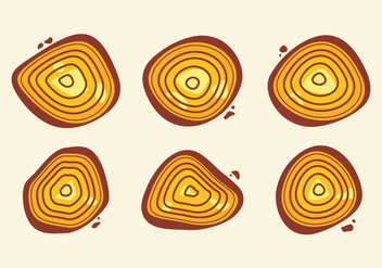 Free Tree Rings Vector Illustration #11 - Free vector #343165