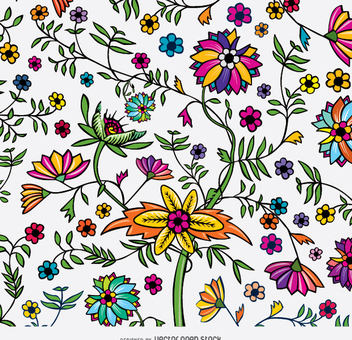 Exotic Floral texture - Free vector #343265