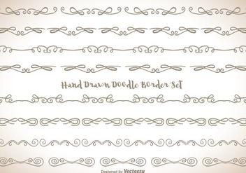 Hand Drawn Doodle Border Set - Free vector #343365