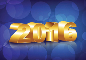 Happy New Year 2016 - vector gratuit #343715
