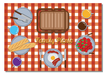 Family Picnic Vector - бесплатный vector #343735
