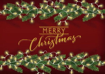 Free Christmas Background Illustration - vector #343755 gratis