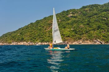 Windsurfing on Koh tao lsland - Free image #344005