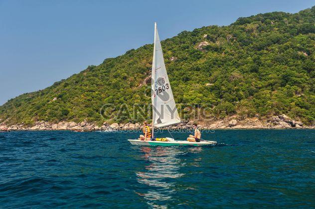 Planche à voile sur l'île de Koh tao - Free image #344005