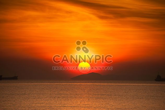 Orange Sonnenuntergang am Meer - Free image #344045