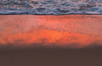 Coastline wave at sunset - Free image #344065