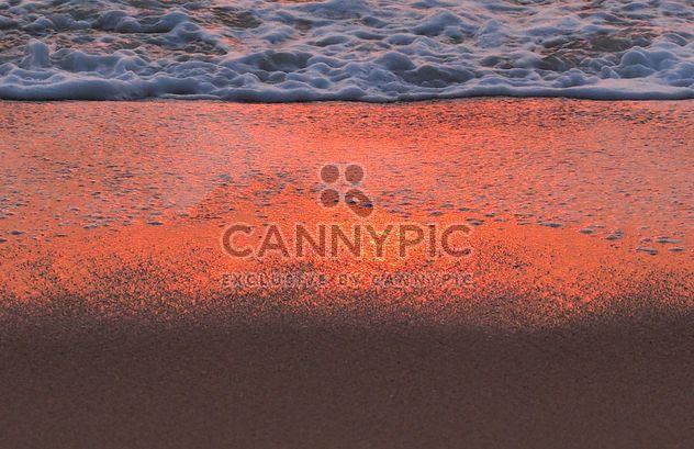 Vague du littoral au coucher du soleil - image gratuit #344065