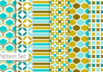 Decorative Abstract Pattern Set - Free vector #344275