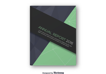 Annual Report Design Cover - Free vector #344295