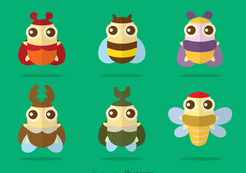 Cute Insect Vector - Free vector #344335