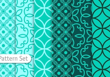 Decorative Geometric Pattern Set - Free vector #344355