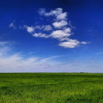 Landscape with green meadow under blue sky - бесплатный image #344615